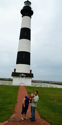 The Bodie Island Lighthouse is near Nags Head on the Outer Banks. The lighthouses are open seasonally from the third (3rd) Friday in April through Columbus Day.