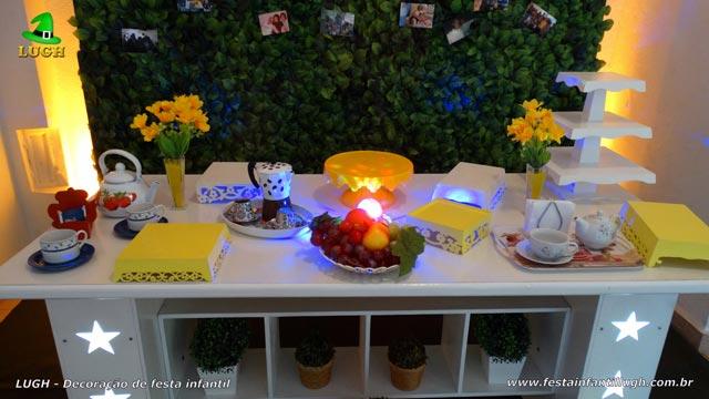 Decoração mesa provençal - Tema Chá da Tarde para aniversário feminino