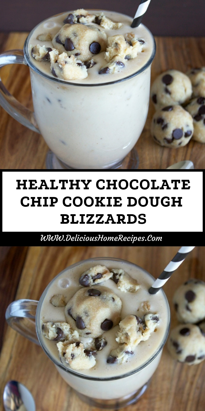 Healthy Chocolate Chip Cookie Dough Blizzards