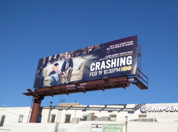 Crashing series premiere billboard