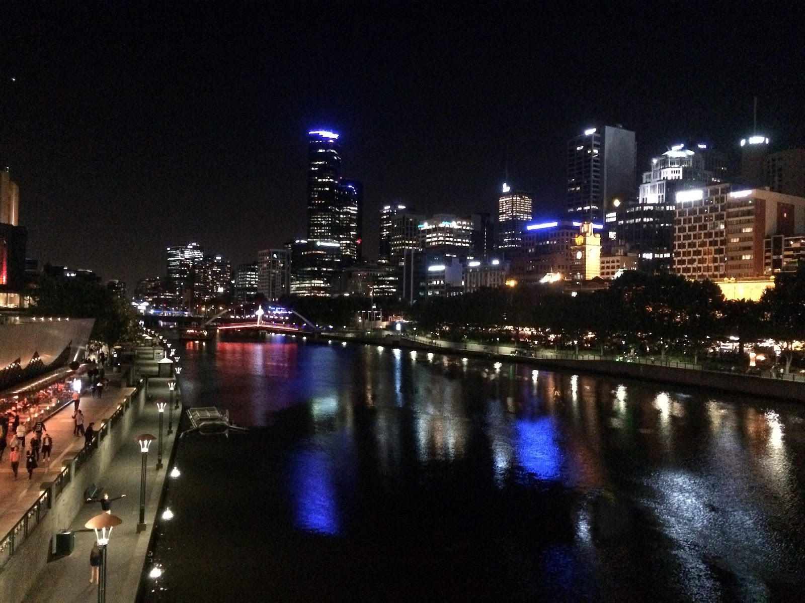 Melbourne Yarra River by Night