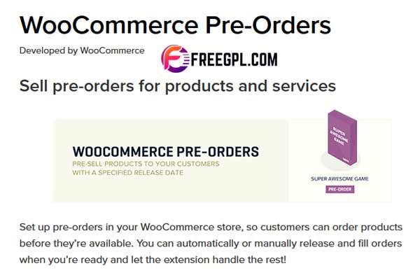 WooCommerce Pre Orders WordPress Plugin Free Download