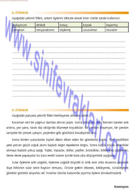 7. Sınıf Türkçe Çalışma Kitabı Cevapları Ezde Yayınları Sayfa 22