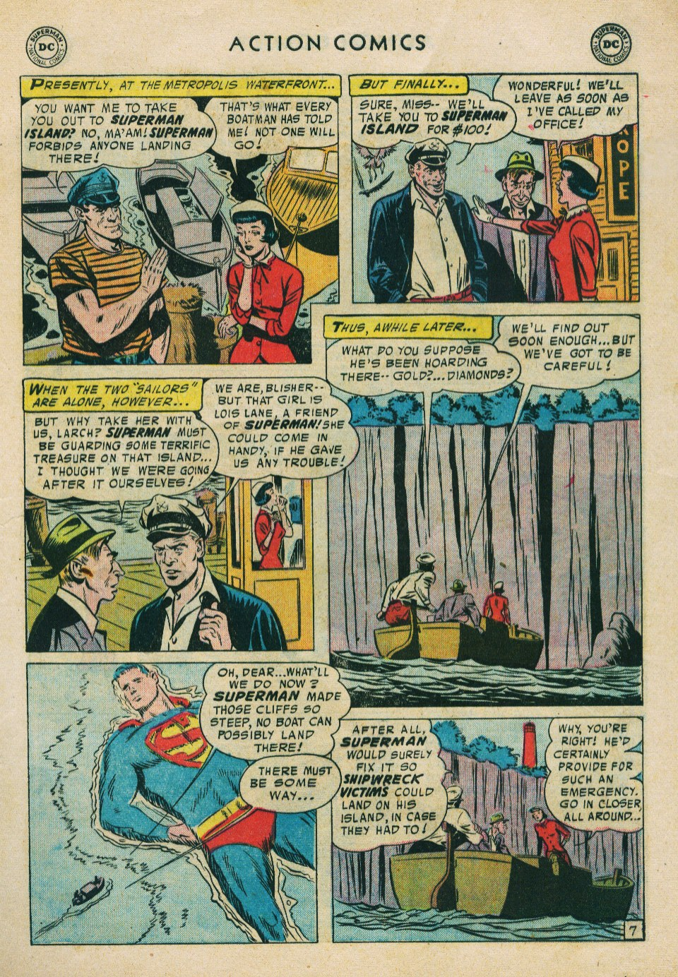 Read online Action Comics (1938) comic -  Issue #224 - 9