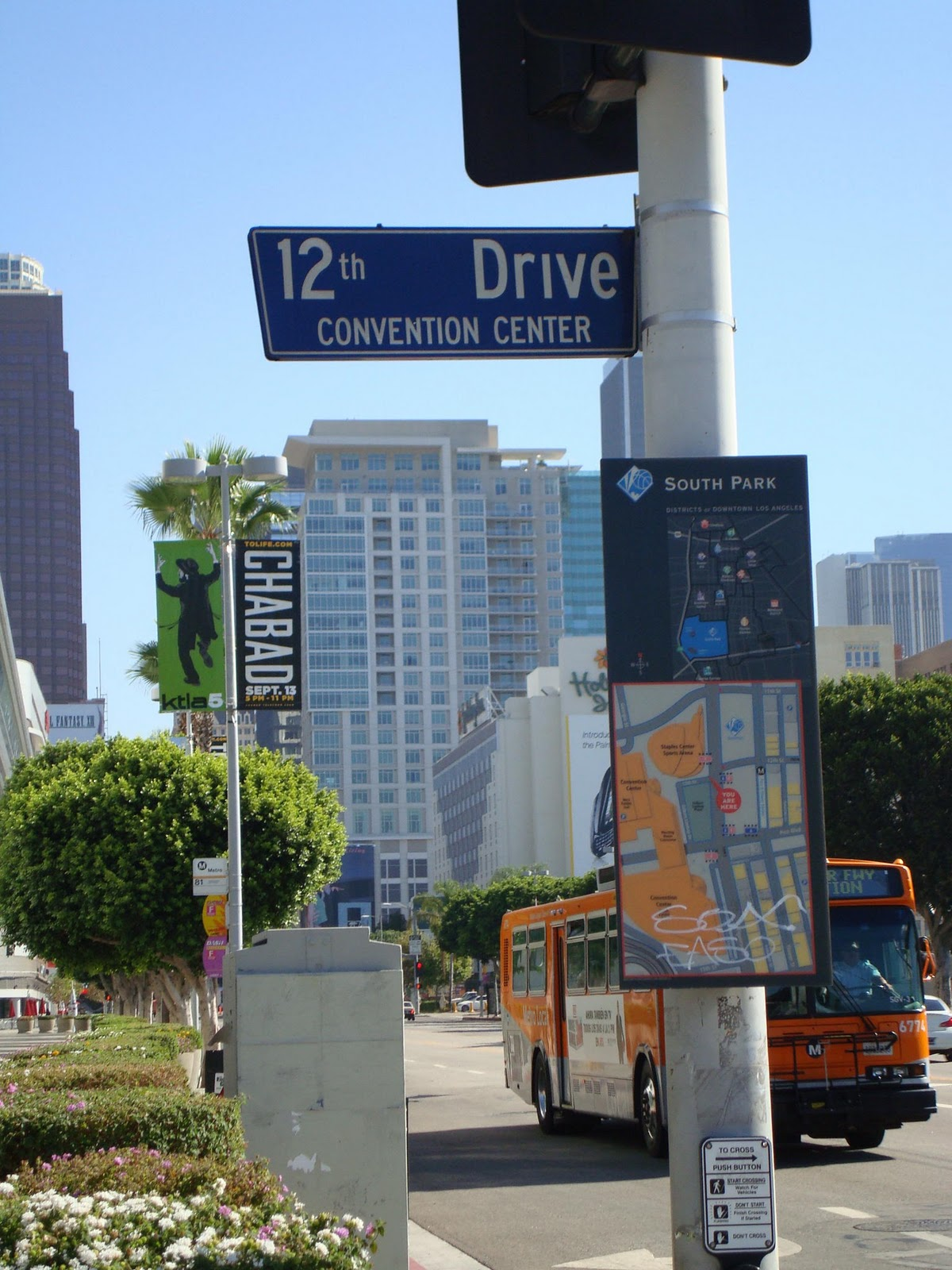 Los Angeles Revisited Before the Convention Center the Staples