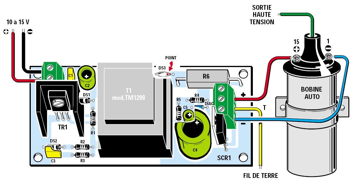 un g n rateur de d charges haute tension pour cl ture lectrique schema electronique net. Black Bedroom Furniture Sets. Home Design Ideas