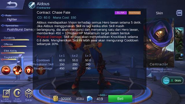 Aldous, Hero Mobile Legends Dengan Damage Tersadis