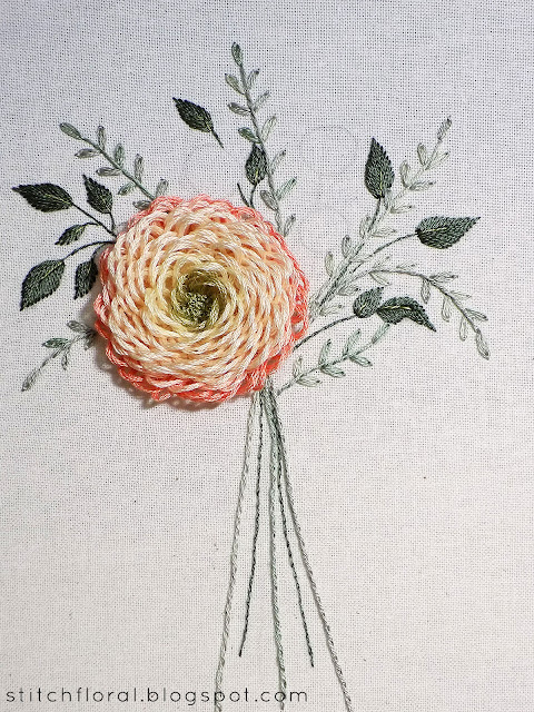 Embroidered flower bouquet