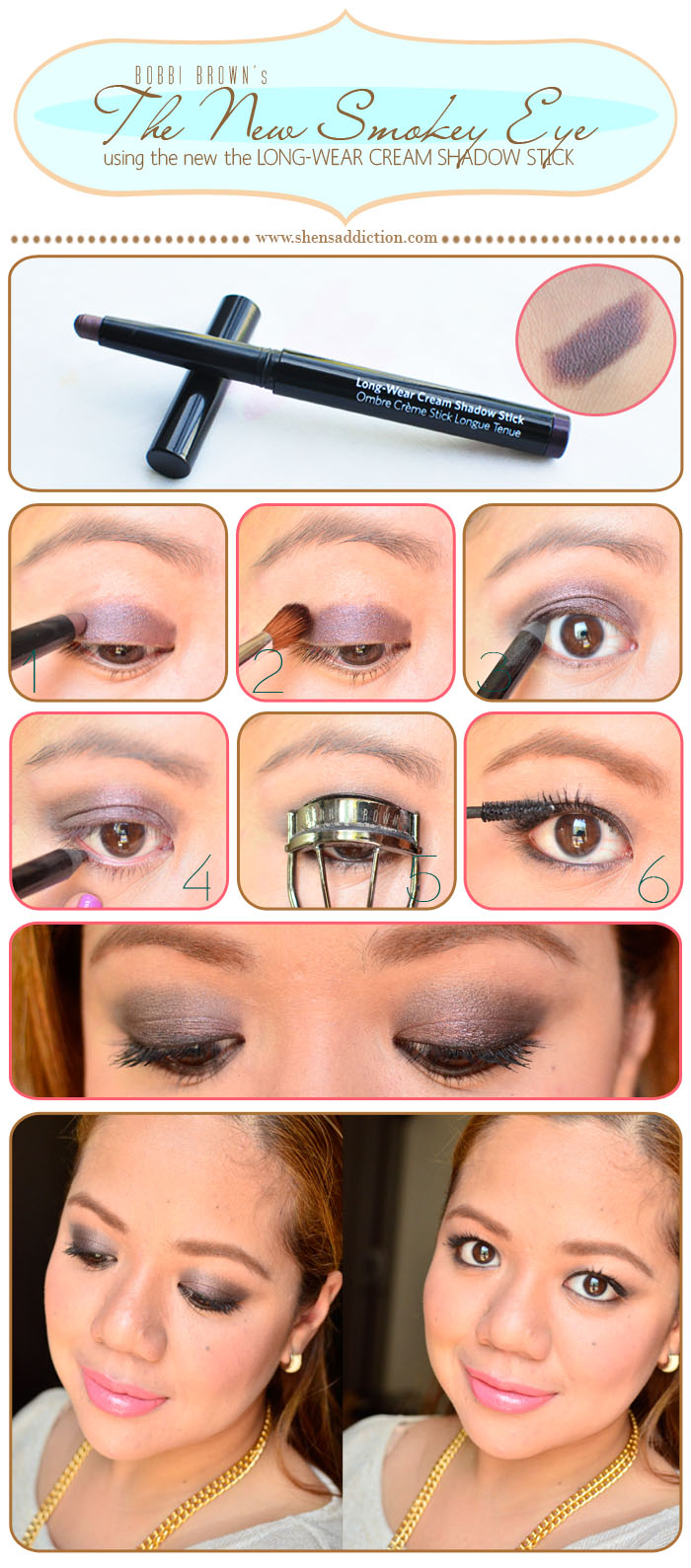 the makeup look bobbi brown s the new smokey eye shen s addiction