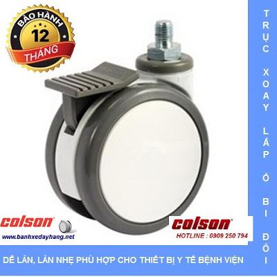 Bánh xe đôi trục ren cọc vít Colson Mỹ giá tốt tại Hà Nội www.banhxeday.xyz