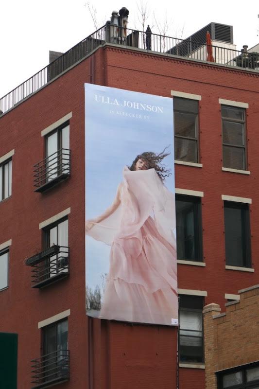 Ulla Johnson S18 billboard NYC