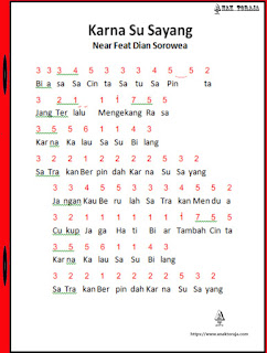Not Angka Lagu Karna Su Sayang Near Ft. Dian Sorowea