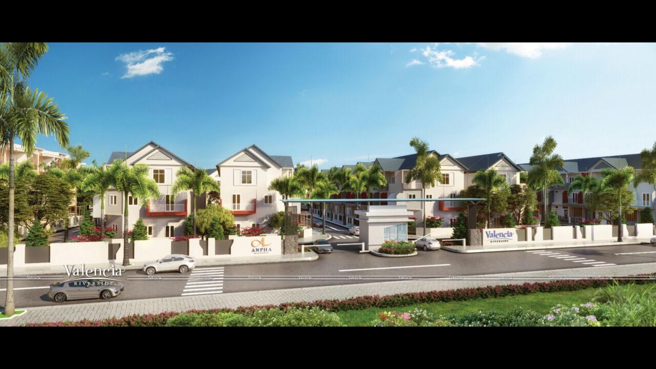 Valencia Riverside Quận 9 - Nhà phố kiến trúc Địa Trung Hải 1
