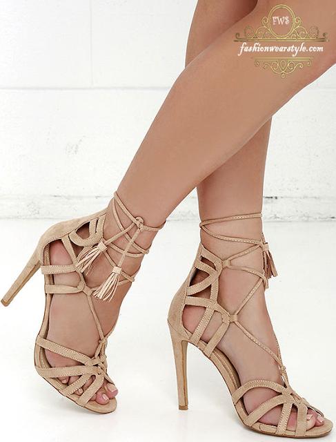 LULU's Suede Lace-Up Heel&Flat Shoes 2016 www.fashionwearstyle.com