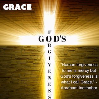 God's forgiveness is Grace