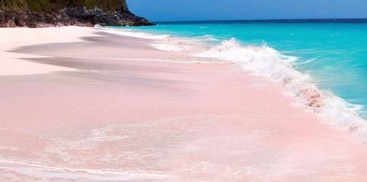 Pink Sand Beach en Bahamas, viajes y turismo