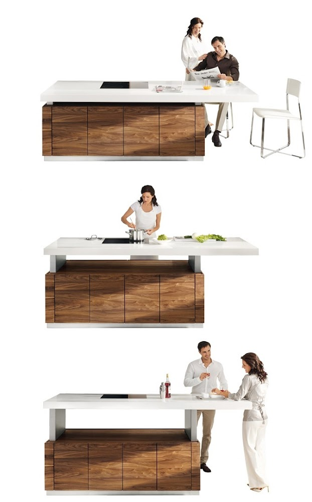 Height-adjustable-kitchen-countertop
