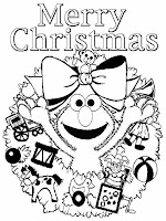 Merry Christmas Coloring Pages Elmo