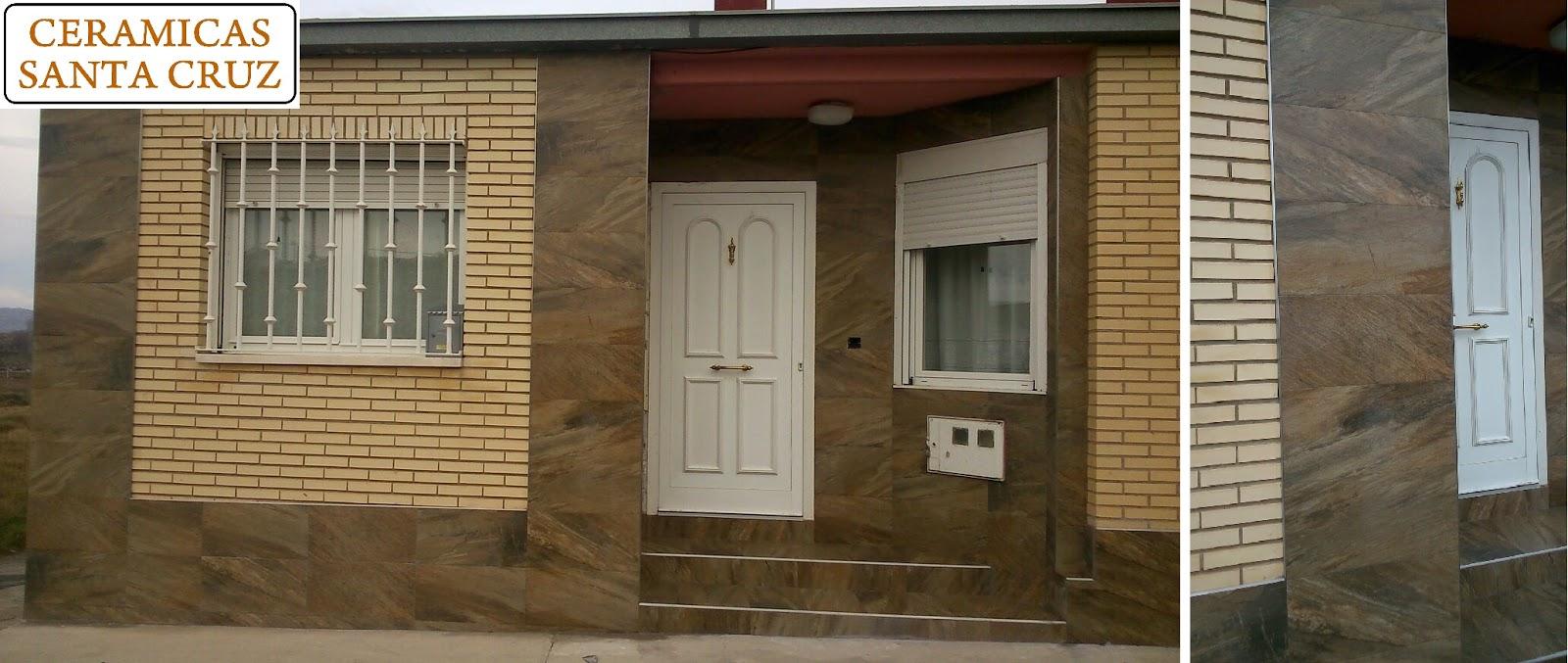 Ceramicas santa cruz reforma de fachada aplacada con for Ceramica para fachadas exteriores