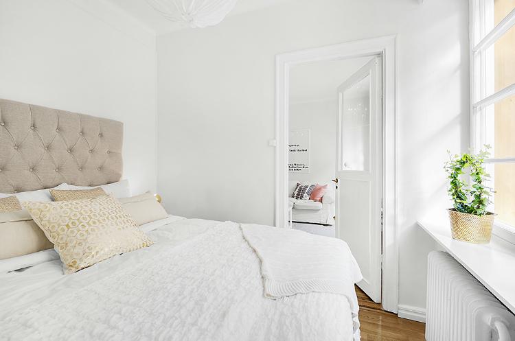 Decoración de pequeño apartamento nórdico en 38 m2 by Habitan2 | Decoración handmade para hogar y eventos |Decoración de estilo nórdico para espacios pequeños