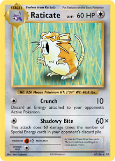 Raticate XY Evolutions Pokemon Card