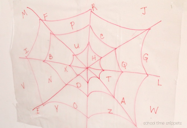 Spider Web Sticky Wall activity