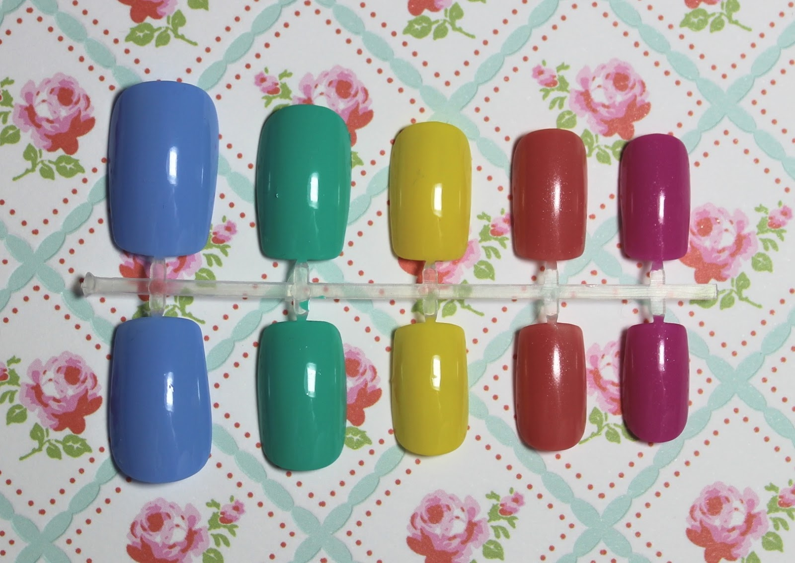 spring nail polishes swatches