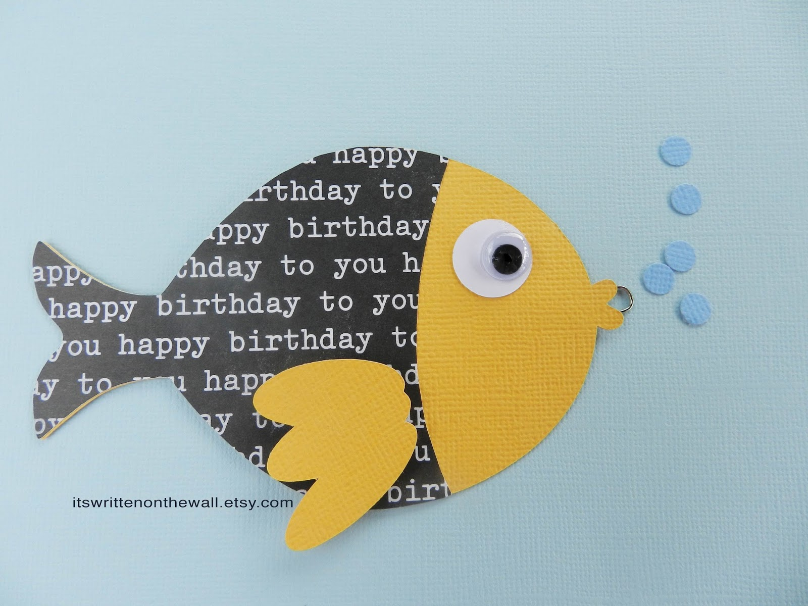 It S Written On The Wall Go Fish Birthday Party Game For