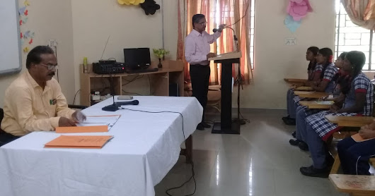INTERACTION WITH OFFICIATING DC 2018 BY X AND XII STUDENTS