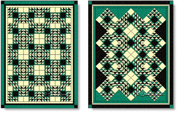 Quilts designed using the CUT GLASS DISH quilt block - images © Wendy Russell