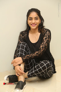Actress Punarnavi Bhupalam Stills in Black Dress at Pittagoda Press Meet  0107.JPG