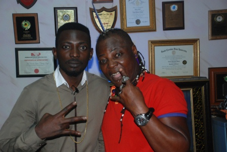 DSC 0923 - PHOTOS: May D visits Charlyboy To Seek blessings for Abuja show