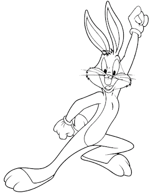Gambar Mewarnai Bugs Bunny - 9