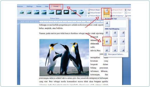 Cara Membuat Agar Posisi Gambar Berada Di Samping Teks MS Word