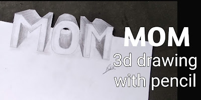 Mother's day drawing, step by step tutorial, mom drawing with pencils, happy mother's day, Mother's day pencils drawing