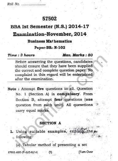 BBA 1st Semester Short Question Answer Bookkeeping 2018 2019