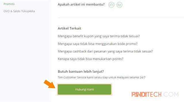 Cara Menghubungi Kontak Customer Service Tokopedia (Pengalaman)