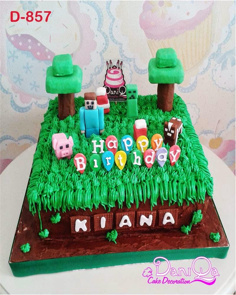 DaniQa Cake And Snack: Kue Ulang Tahun Minecraft