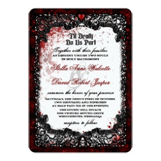 Blood Splattered Wedding Together With Wording