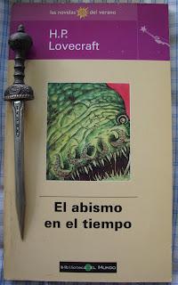 Portada del libro El abismo en el tiempo, de H. P. Lovecraft