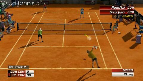 virtua tennis 3 psp game double men match
