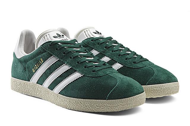 Gazelle Adidas Originals relança clássico verde green