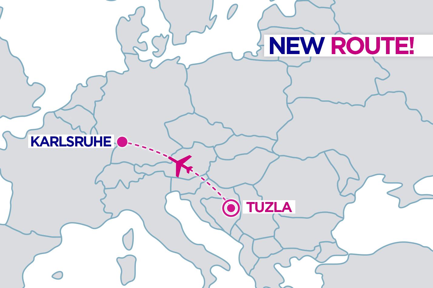 Bosnia and Herzegovina aviation news New route from Tuzla to