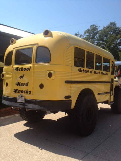 daily turismo 15k 1957 chevy monster school bus. Black Bedroom Furniture Sets. Home Design Ideas