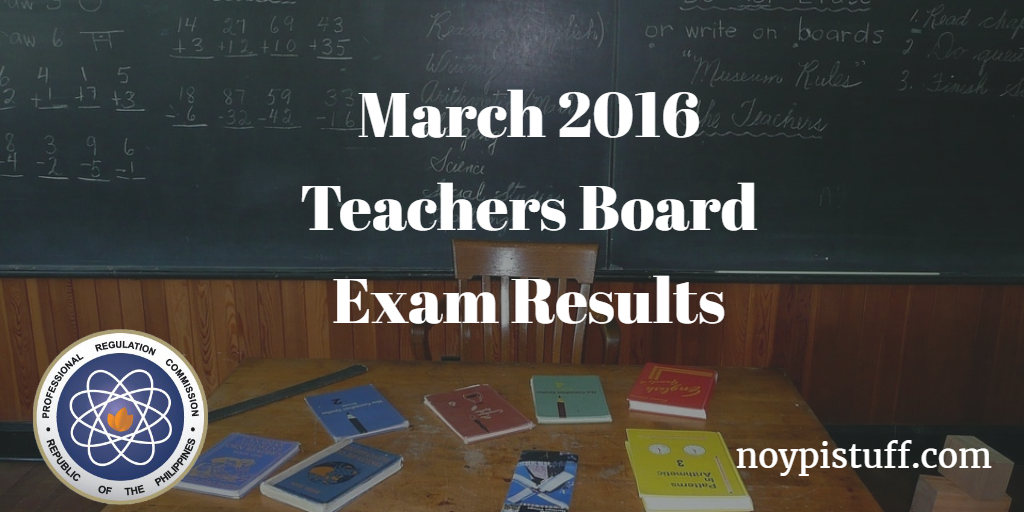 prc teachers board exam results march 29 2015