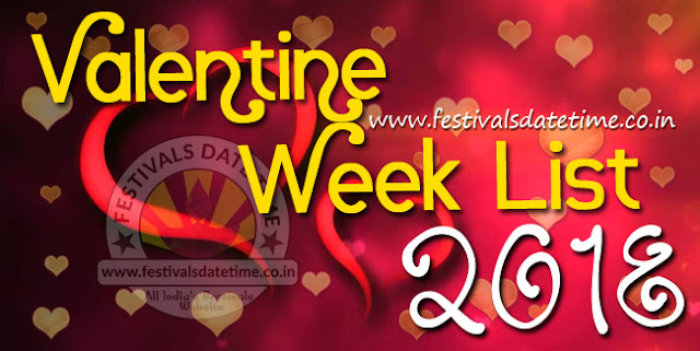 2018 Valentine Week List, Dates & Schedule of Valentine Week Days, 2018 Valentine Day Wallpapers Download