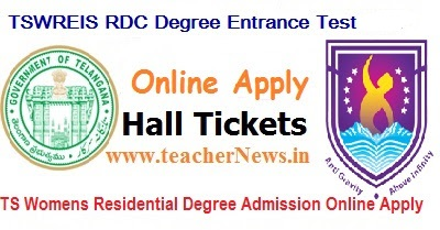 TSWRDCET 2018 Telangana Women Residential Degree Admission Online Apply BA BSc B.Com Hall tickets