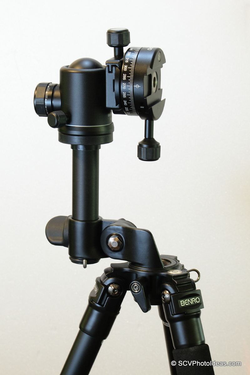 Benro A-298EX w/ short center column vertical out - as Gimbal