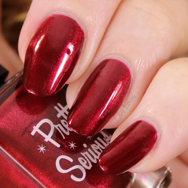 Pretty Serious Velvet Bow nail polish swatches & review