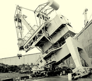 Impact of ship with crane result failure in Sendai Port (2011 Japan Tsunami)